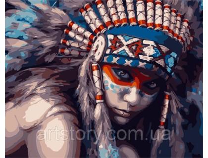 Купить Картина по номерам ArtStory Принцесса воин AS0288 40 х 50 см
