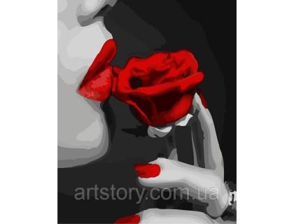 Купить Картина по номерам ArtStory Любительница красного AS0289 40 х 50 см