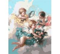 Картина по номерам ArtStory Нежные ангелочки AS0294 40 х 50 см