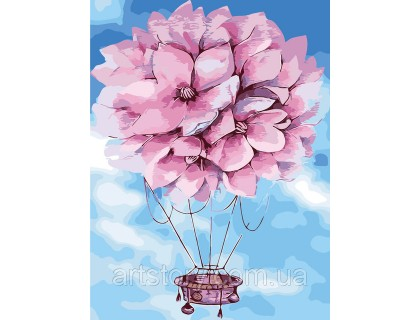 Купить Картина по номерам без коробки ArtStory Цветочный шар 30 х 40 см (арт. AS0317)