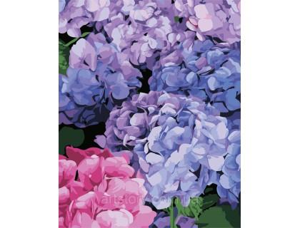 Купить Картина по номерам ArtStory Букет гортензии AS0334 40 х 50 см
