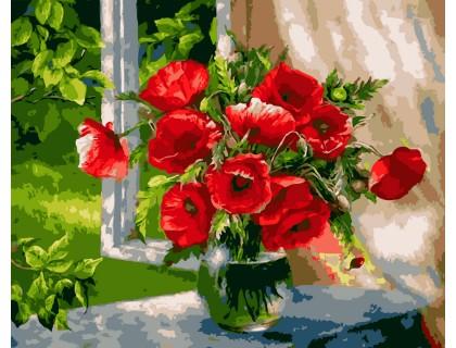 Купить Картина по номерам ArtStory Маковое настроение AS0003 40 х 50 см