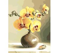 Картина по номерам ArtStory  Орхидеи в вазе AS0019 40 х 50 см