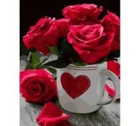 Картина по номерам ArtStory Алые розы AS0020 40 х 50 см