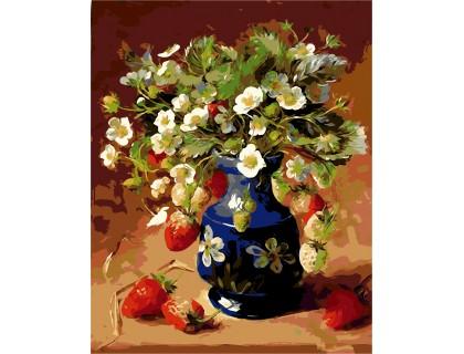 Купить Картина по номерам ArtStory Ромашки с клубникой AS0116 40 х 50 см