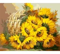 Картина по номерам ArtStory Солнечные подсолнухи AS0237 40 х 50 см