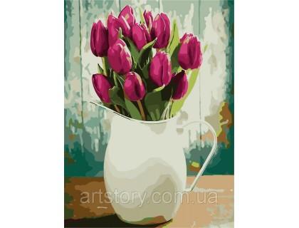 Купить Картина по номерам ArtStory Ароматные тюльпаны AS0240 40 х 50 см