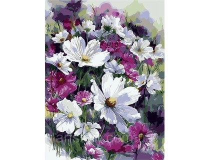 Купить Картина по номерам ArtStory Весенний букет  AS0241 40 х 50 см