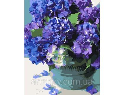Купить Картина по номерам ArtStory Букет гортензии AS0244 40 х 50 см