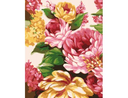 Купить Картина по номерам ArtStory Яркий букетик AS0348 40 х 50 см