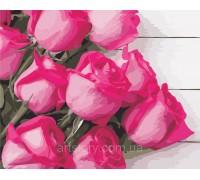 Картина по номерам ArtStory Розовые розы AS0349 40 х 50 см