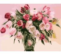 Картина по номерам Menglei Тюльпаны в вазе (КН1072) 40 х 50 см