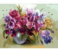 Картина по номерам Идейка (КН1118) Ароматные ирисы в вазе 40 х 50 см