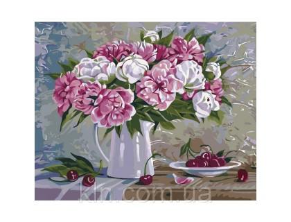 Купить Картина по номерам Ароматные пионы Идейка КН2061 40 х 50 см
