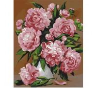 Картина по номерам Розовые пионы КН2087 40 х 50 см