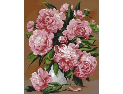 Купить Картина по номерам Розовые пионы КН2087 40 х 50 см