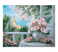 Картина по номерам Окно в сад КН2204  40 х 50 см