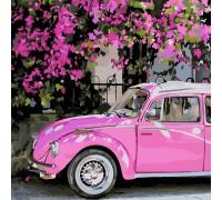 Картина по номерам без коробки ArtStory Розовый автомобиль 40 х 40 см (арт. AS0224)