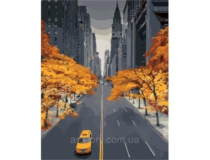 Купить Картина по номерам ArtStory Осень в большом городе AS0255 40 х 50 см