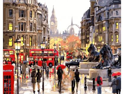 Купить Картина по номерам ArtStory Типичный Лондон AS0363 40 х 50 см