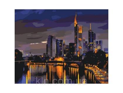 Купить Картина по номерам без коробки Идейка Гонконг в ночи 40 х 50 см (арт. КНО2178)