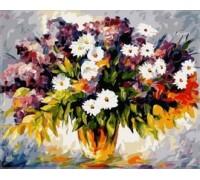 Картина по номерам Babylon Букет полевых цветов и ветка сирени VP064 40 х 50 см