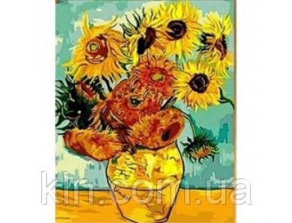 Купить Картина по номерам Идейка (KH098) Подсолнухи Ван Гог 40 х 50 см