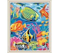 Картина по номерам Идейка (КН007 ) Яркие рыбки 40 х 50 см