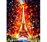 Картина по номерам Идейка (КН076) Любимый Париж 40 х 50 см
