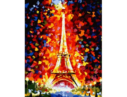 Купить Картина по номерам Идейка (КН076) Любимый Париж 40 х 50 см