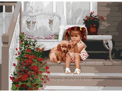 Купить Картина по номерам Идейка В ожидании мамы КН1024 40 х 50 см