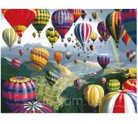 Картина по номерам Идейка (КН1056) Полёт на воздушном шаре 40 х 50 см