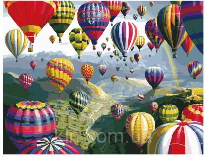 Купить Картина по номерам Идейка (КН1056) Полёт на воздушном шаре 40 х 50 см