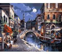 Картина по номерам Идейка КН1129 Вечерняя Венеция 40 х 50 см
