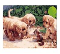 Картина по номерам Идейка КН1132 Маленькие друзья 40 х 50 см