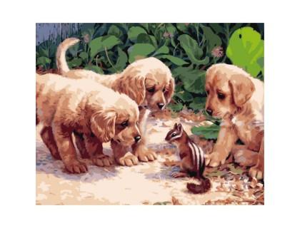 Купить Картина по номерам Идейка КН1132 Маленькие друзья 40 х 50 см