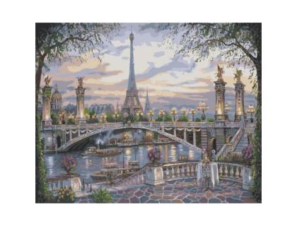 Купить Картина по номерам Прекрасный Париж КН1148 40 х 50 см