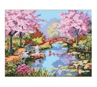 Картина по номерам Идейка (КН190) Цветущая сакура в саду 40 х 50 см