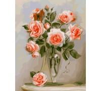 Картина по номерам Идейка Кораловые розы KH2034 40 х 50 см