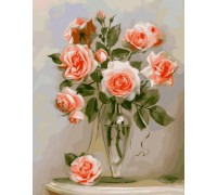 Картина по номерам Menglei Кораловые розы KH2034 40 х 50 см