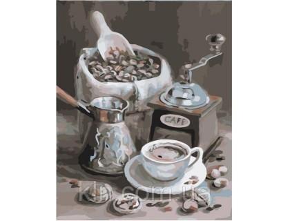 Купить Картина по номерам Идейка Ароматный кофе 40 х 50 см (арт. КН2047)