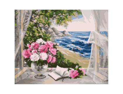 Купить Картина по номерам Окно к морю КН2072 40 х 50 см