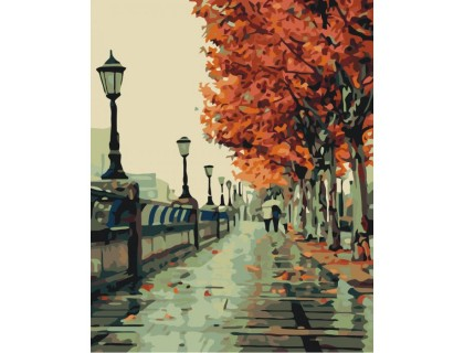 Купить Картина по номерам Осенняя прогулка КН2115 40 х 50 см