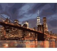 Картина по номерам КН2133 Огни ночного Нью-Йорка 40 х 50 см