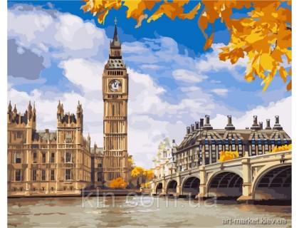 Купить Картина по номерам КН2134 Осенние краски Лондона 40 х 50 см