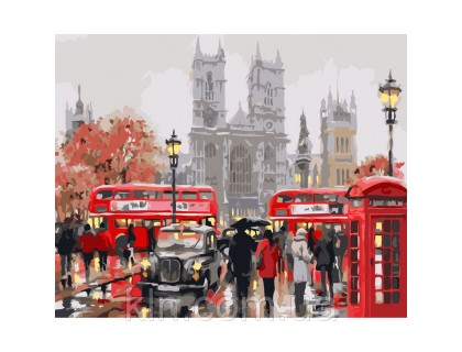 Купить Картина по номерам Дождливое утро в Лондоне (КН2149) 40 х 50 см