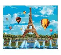 Картина по номерам КН2179 Любимый Париж 40 х 50 см