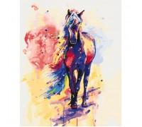 Картина по номерам Сильная лошадь КН2497 40 х 50 см