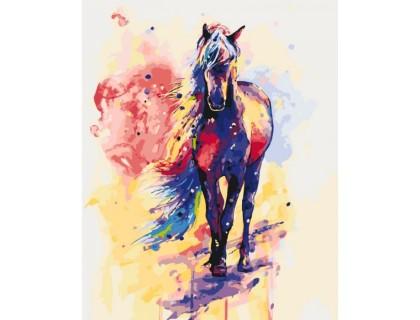 Купить Картина по номерам Сильная лошадь КН2497 40 х 50 см