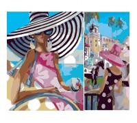 Картина по номерам Идейка Диптих Девушка загадка (2 картины, 40х20, 40х30см) (KH2619)